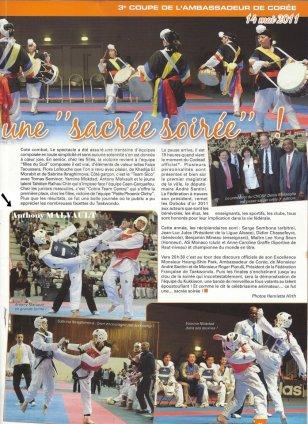 Taekwondo Choc : Anthony Malvault en action…