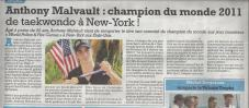 Le Petit Niçois : Anthony Malvault, Champion du Monde 2011 World Police Fire Games!