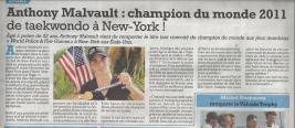 Le Petit Niçois : Anthony Malvault, Champion du Monde 2011 World Police Fire Games!
