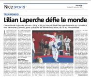 Lilian Laperche sélectionné pour le championnat du monde juniors 2016.