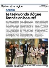 Le Taekwondo Nice Elite clôture l'année en beauté !