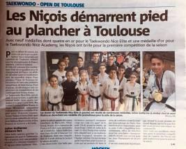 Le Taekwondo Nice Elite démarre fort à Toulouse 2017