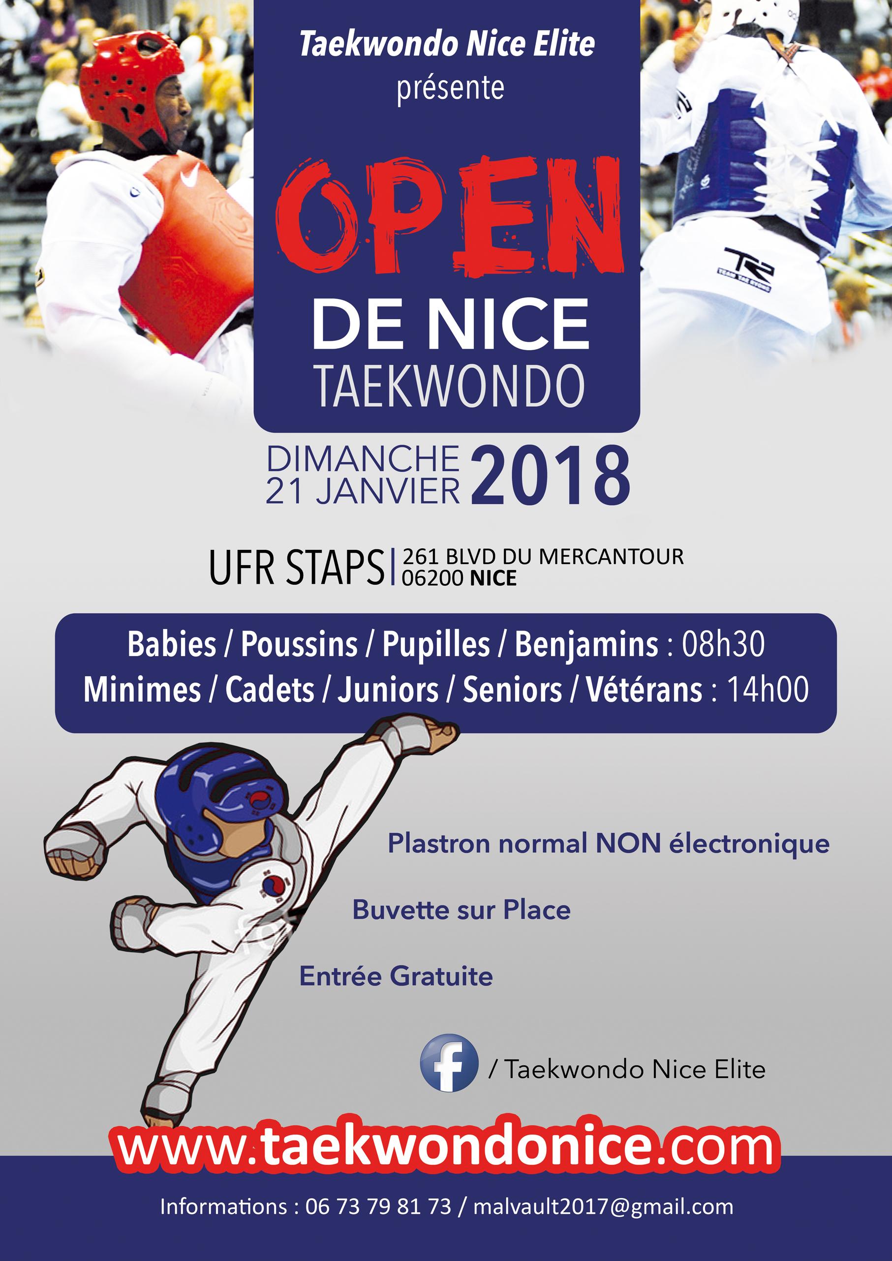 Affiche Open Nice 2018