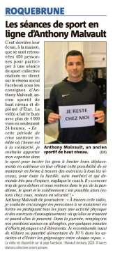 Sport en ligne avec Anthony Malvault