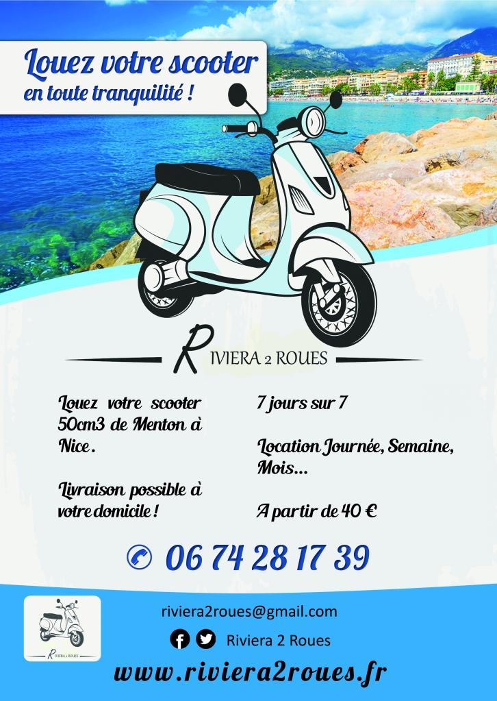 Location de scooters à Menton, Roquebrune-Cap-Martin et Monaco.